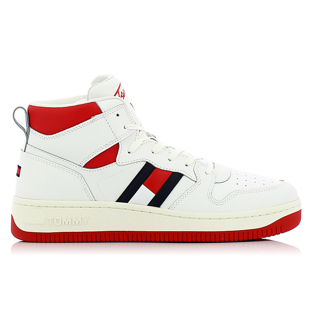 TOMMY HILFIGER – Sneakers BASKET HIGH CUPSOLE TJM LEATHER ΑΝΔΡ. ΥΠΟΔΗΜΑ