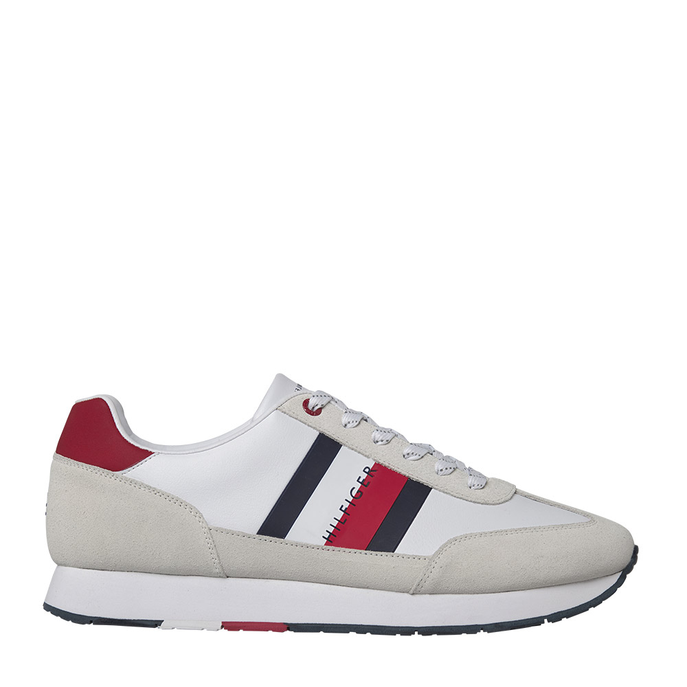 TOMMY HILFIGER – Sneakers CORPORATE LEATHER FLAG RUNNER ΑΝΔΡ.ΥΠΟΔΗΜΑ