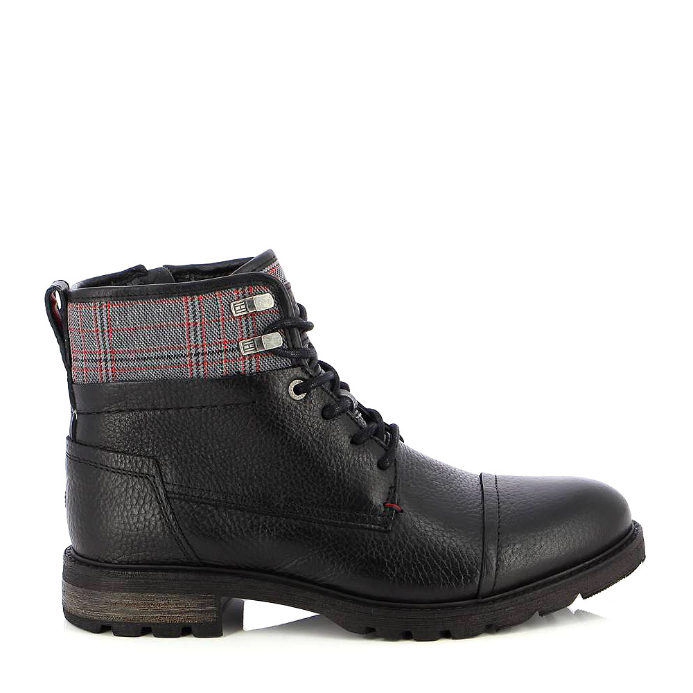 TOMMY HILFIGER – Μποτάκια WINTER LEATHER TEXTILE MIX BOOT ΑΝΔΡ ΥΠΟΔΗΜΑ