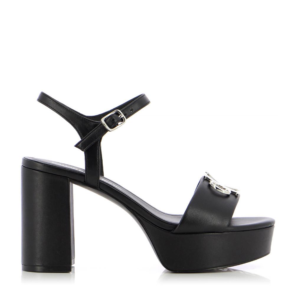 Calvin Klein – Πέδιλα HEEL SANDAL STRAP HW LTH ΓΥΝ. ΥΠΟΔΗΜΑ